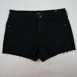 Old Navy Boyriend Cutoff Shorts Size 2 Black